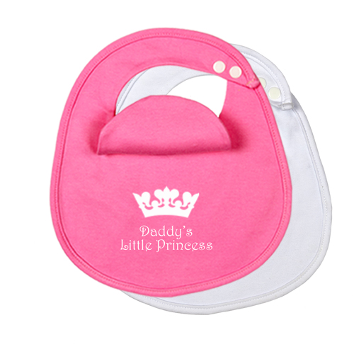 2-Pack-Daddys-Little-Princess-BibEasy-Bibs