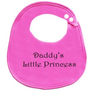 Daddys Little Princess Dribble Teething Weaning Burp Cloth Baby Bib