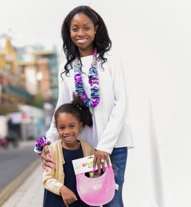 Founder of BibEasy Bibs -Shantelle and daughter