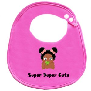 Super Duper Cute Afro Girls BibEasy Baby Bib