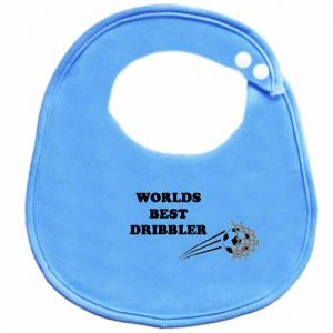 Worlds Best Dribbler BibEasy Baby Bib blue