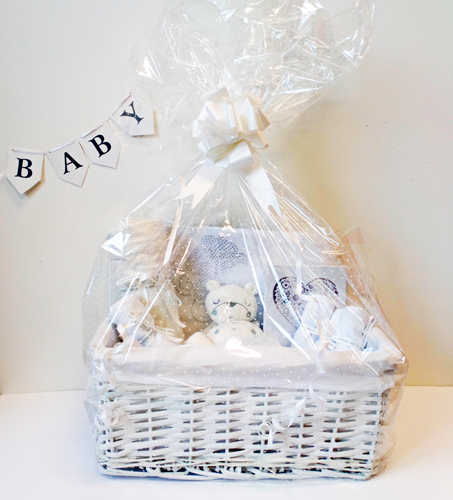 Luxury-White-Newborn-Hamper | BibEasy Baby BIbs