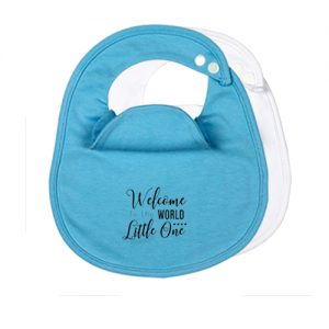 2-Pack-Welcome-to-the-world-BibEasy-Baby-Bibs-Blue