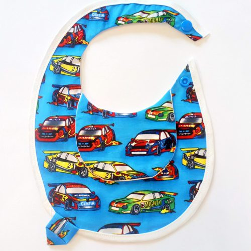 Racing Cars Newborn Bib