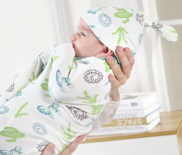 2 Piece Swaddle Blanket + Hat