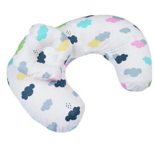 Pregnancy and Nursing Breastfeeding Pillow - clouds