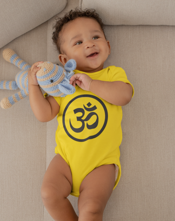 Inner Peace Om Bodysuit Newborn Toddler Unique Gift | BibEasy Bibs