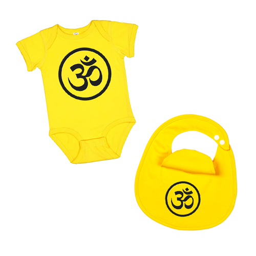Peace-Bodysuit-&-Bib-Set--yellow