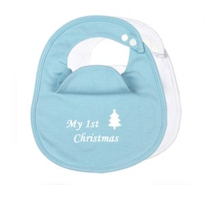 2-Pack-My-First-Christmas-BibEasy-Baby-Bibs-Blue