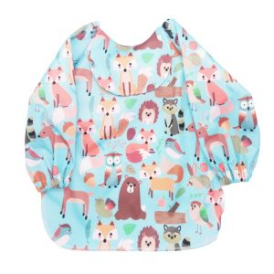 Animal-Forest-Sleeved-Bib